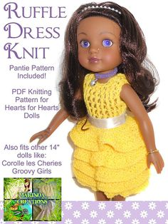 Cute Heart for Hearts doll knitting pattern