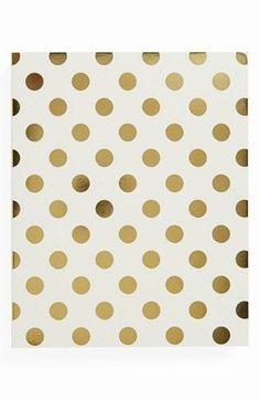 Gold polka dot spiral notebook