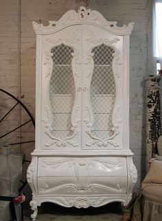 Romantic French Armoire. Would love to have this for craft storage