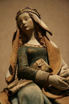 Notre Dame de Grasse (Our Lady of Grace), a beautiful Gothic statue of the Virgin Mary. ca 1470. Polychromed limestone. medieval statue