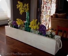 DIY Planter Box, via Urban Hoot. Would make a great centerpiece.
