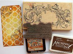 Art Journal Inspiration: Layers of ink: Wax Paper Resist Tutorial
