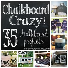 Some really fun chalkboard project ideas!