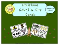 Christmas, Religious Count & Clip Cards *Common Core Aligned*