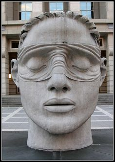Justice Sculpture, Federal Courthouse, Newark, NJ by Brooklyn Bridge Baby, via Flickr