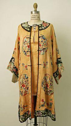 Chinese silk beach pajamas ca. 1929