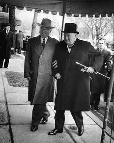 Harry S Truman and Winston Churchill