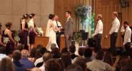 SALEM, Ohio — The bride and groom kissed and just as they were about to be pronounced husband and wife,...