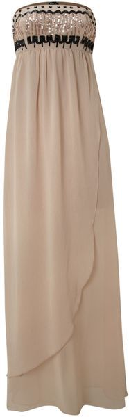 Maxi Sequin Bandeau Dress