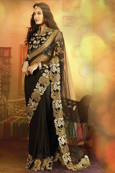 Breathtaking Black #Saree