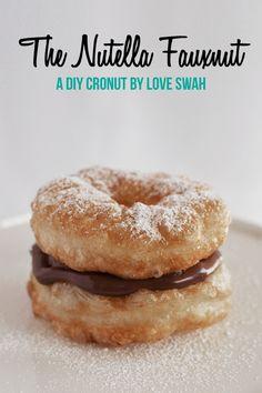 The Nutella Fauxnut - A super easy DIY Cronut!