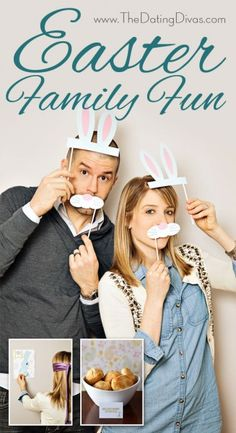 Cute Easter photo booth props, games (Pin the tail on the Bunny), cute food ideas, etc.  Love this!!