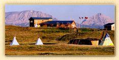 Lodgepole Gallery & Tipi Village, Blackfoot tipi camping
