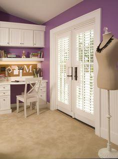 Purple Teen Girl's Bedroom -DOORS