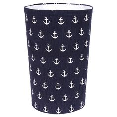 Anchor Wastebasket - wrap fabric around a wastebasket to match your rooms theme! #Humbercollege #dormroom
