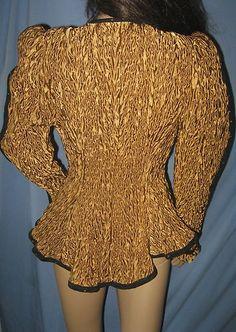 M 10 Art Jeanne Marc Deco 1980's Fitted Blazer Vtg Retro Evening Dress Jacket | eBay