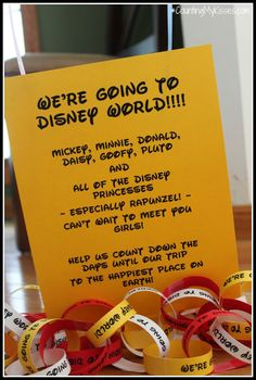 We're going to Disney World announcement....:)  when the boys are a few years older this will be a Christmas present for them!!!!!