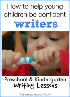 How to help young children be confident writers | The Measured Mom