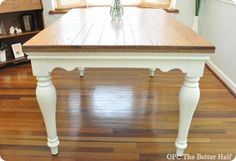pottery barn knock off farmhouse table