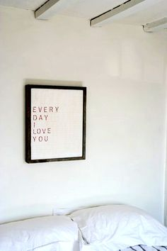 Want to hang this over our bed in our new house as a surprise for my husband. Soon to be New Home!!!  =)