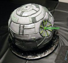 """Death Star"" cake by Bret Ashlee Watson. Lucky kid!!"