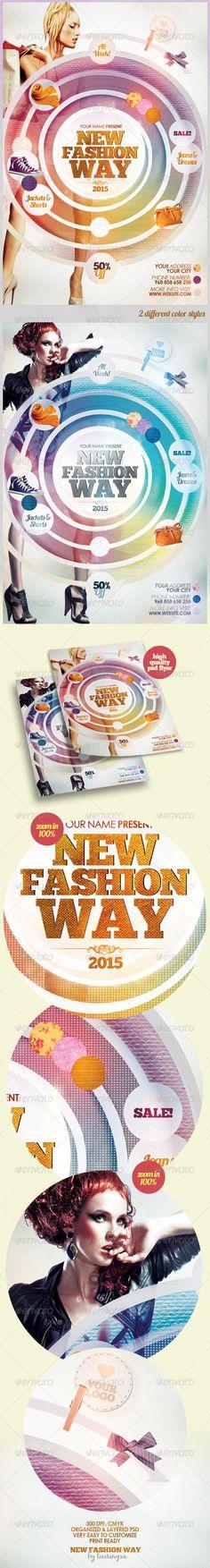fashion flyer, flyer templat, print templat