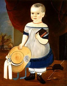 Artist: Matthew Prior Child with Straw Hat 1846 - 1873