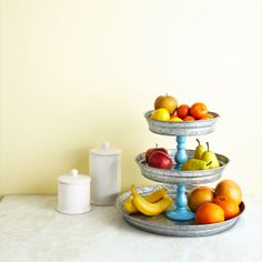 Turn a set of nesting pans into a rustic-chic tiered tray. #Woman'sDay