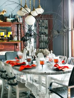 Afterlife Arrangements - 20+ Hip Halloween Decorating Ideas on HGTV