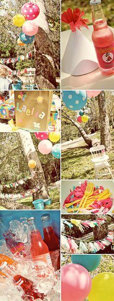 Vintage pinwheel 1st birthday party idea via Kara's Party Ideas - www.karaspartyideas.com