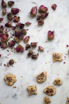 Rosewater Shortbread