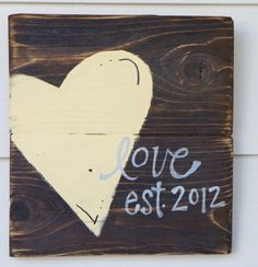 Wedding gift heart reclaimed wood sign by SlightImperfections, $25.00