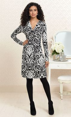A Twist Goodnight: #Soma Knotted Empire Dress in Wallpaper Print #SomaIntimates
