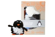 South Pole straight to your heart! Your kiddo will love making & playing with this penguin.   Honest Pom-Pom Penguin DIY Craft Kit, collaboration with Seedling