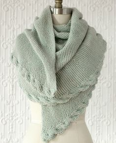 Manos Serena Calza Cable Wrap Knitting Pattern #knitting