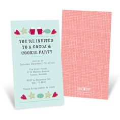 Cookie Exchange Invitations -- Holiday Warmth