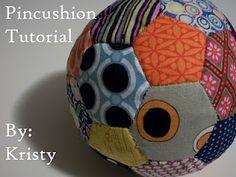 Hexagon Pincushion - tutorial with pattern