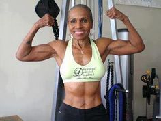 She may be a grandmother, but don't call her old.  Ernestine Shepherd, 74, of Baltimore has been crowned by the Guinness Book of World Records as the oldest competitive female bodybuilder ever.  She told the Washington Post: 'Age is nothing but a number    NO EXCUSES!!! NEVER TOO LATE!! GET YOUR BODY RIGHT!! START TODAY!!