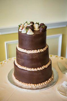A chocolate lover's wedding cake