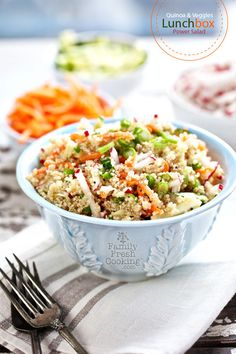 Quinoa & Veggies Lunchbox Power Salad | FamilyFreshCooking.com (gluten free and vegan)