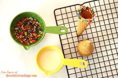 How to make easy dipped sprinkle cones | Kim Byers, TheCelebrationShoppe.com #icecream #sprinkles