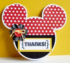 Teachdanz: Disney Week Post #2 and Shabby Chic DT Mickey Mouse thank you cards