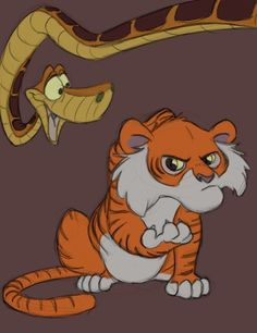 Young Shere Khan and Kaa