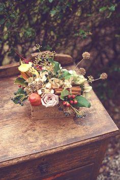 centerpiece | centrotavola autunnale | vin brulè e cannella | Mulled Wine http://theproposalwedding.blogspot.it/ #autumn #autunno #fall #wedding #matrimonio #cannella #vino #wine