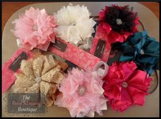 NO SEW Pouting Princess Fabric Flower PDF Tutorial With Headband Instructions