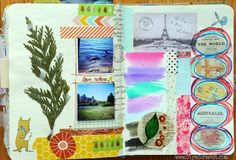 Art Journal pages by Olya Schmidt, via Behance