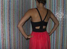 DIY- Bodycon dress cut and sewn to a loose skirt maxi dresses, skirts, diy fashion, diy dress, maxis, diy cloth, watermelon, blog, black