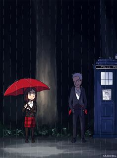 cardinalcapaldi:  Clara: You'll catch a cold if you stand out in the rain like that. The Doctor: I'm fine. Clara: Come on, don't be like that <<< ;___; Feels.