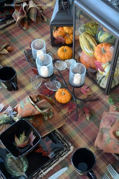 At the Table: Pumpkins, Leaves and Mikasa Autumn Nights