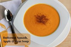 Butternut Squash, Apple & Pear Soup | 5DollarDinners.com